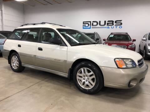 2002 Subaru Outback for sale at DUBS AUTO LLC in Clearfield UT