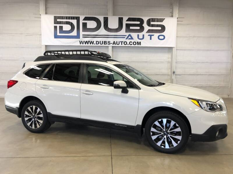2016 Subaru Outback for sale at DUBS AUTO LLC in Clearfield UT
