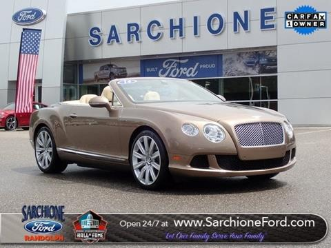 2014 Bentley Continental for sale in Randolph, OH