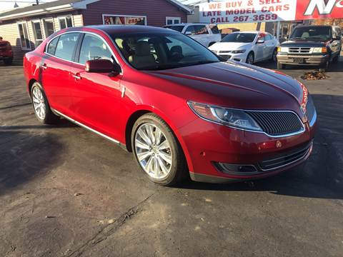 2013 Lincoln MKS for sale at N & J Auto Sales in Warsaw IN