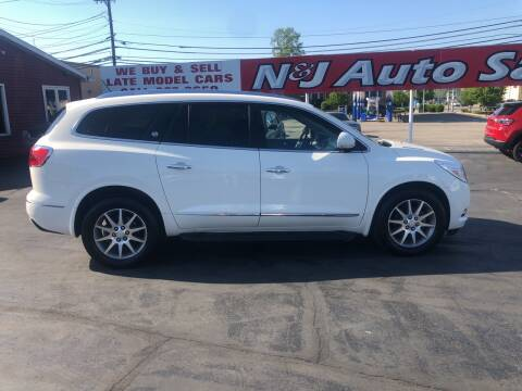 2015 Buick Enclave for sale at N & J Auto Sales in Warsaw IN