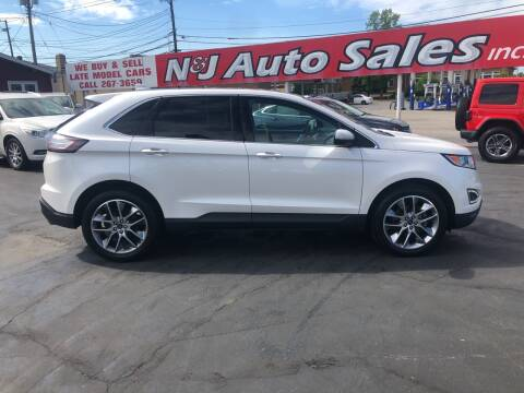 2015 Ford Edge for sale at N & J Auto Sales in Warsaw IN