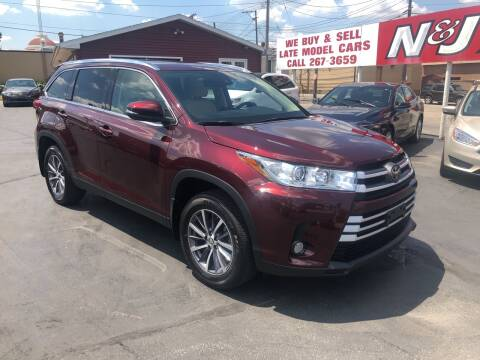 2019 Toyota Highlander for sale at N & J Auto Sales in Warsaw IN