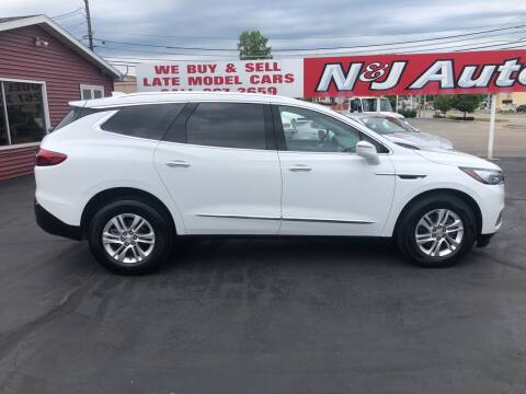 2019 Buick Enclave for sale at N & J Auto Sales in Warsaw IN