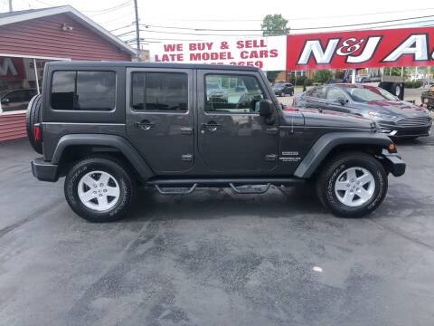 2017 Jeep Wrangler Unlimited for sale at N & J Auto Sales in Warsaw IN
