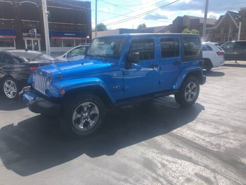 2016 Jeep Wrangler Unlimited for sale at N & J Auto Sales in Warsaw IN