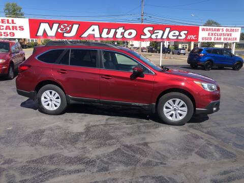 2015 Subaru Outback for sale at N & J Auto Sales in Warsaw IN