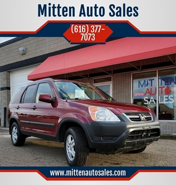 2002 Honda CR-V for sale at Mitten Auto Sales in Holland MI