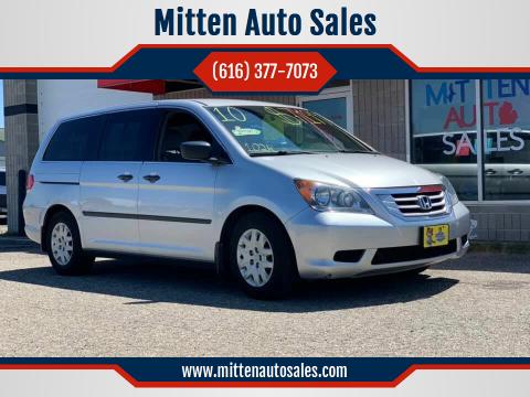 2010 Honda Odyssey for sale at Mitten Auto Sales in Holland MI