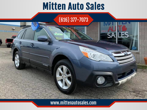 2013 Subaru Outback for sale at Mitten Auto Sales in Holland MI