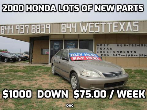2000 Honda Civic for sale in Lubbock, TX