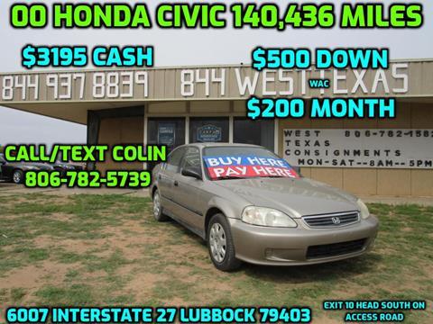 2000 Honda Civic for sale in Lubbock, TX