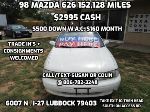 1998 Mazda 626 for sale at West Texas Consignment in Lubbock TX