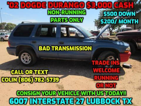 2002 Dodge Durango for sale at West Texas Consignment in Lubbock TX