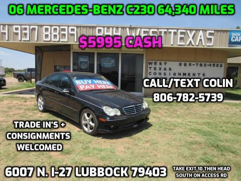 2006 Mercedes-Benz C-Class for sale at West Texas Consignment in Lubbock TX