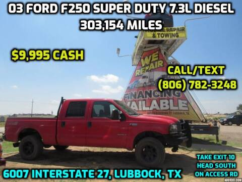 2003 Ford F-250 Super Duty for sale at West Texas Consignment in Lubbock TX