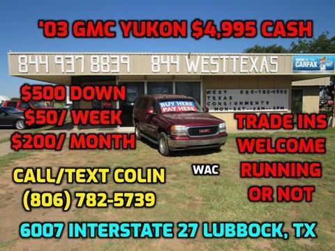 2003 GMC Yukon for sale in Lubbock, TX