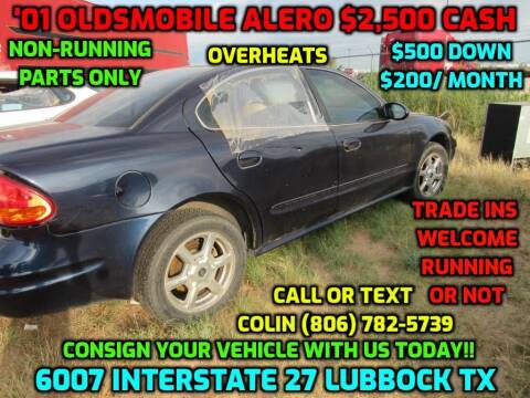 2001 Oldsmobile Alero for sale at West Texas Consignment in Lubbock TX