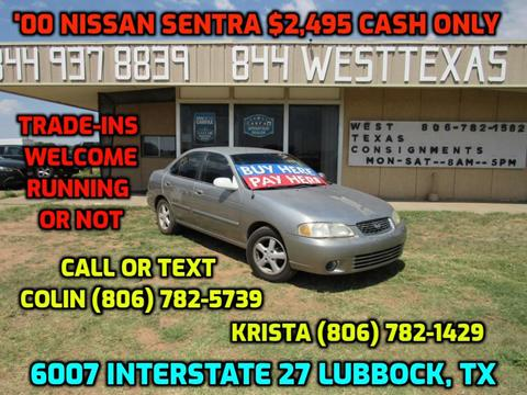 2000 Nissan Sentra for sale in Lubbock, TX