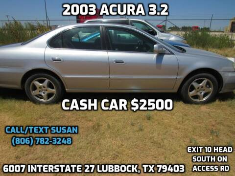 2003 Acura TL for sale at West Texas Consignment in Lubbock TX