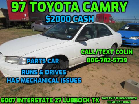 1997 Toyota Camry for sale at West Texas Consignment in Lubbock TX