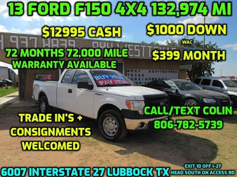 2013 F150 For Sale >> Ford F 150 For Sale In Lubbock Tx West Texas Consignment