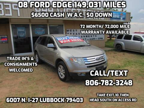 2008 Ford Edge for sale at West Texas Consignment in Lubbock TX