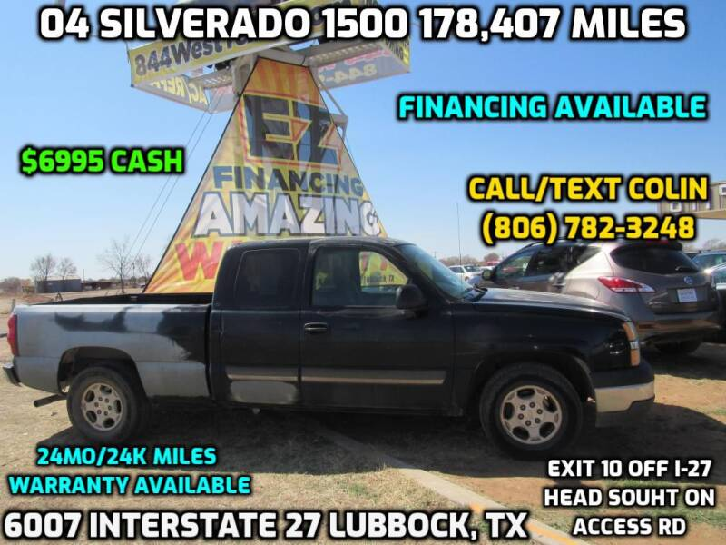 2004 Chevrolet Silverado 1500 for sale at West Texas Consignment in Lubbock TX