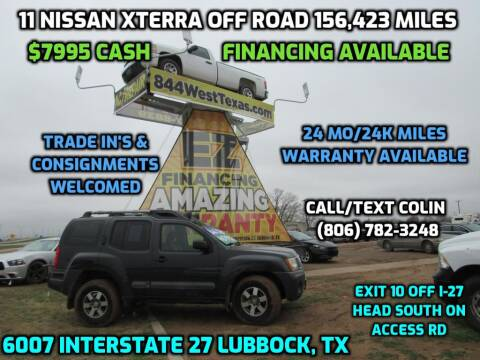 2011 Nissan Xterra for sale at West Texas Consignment in Lubbock TX