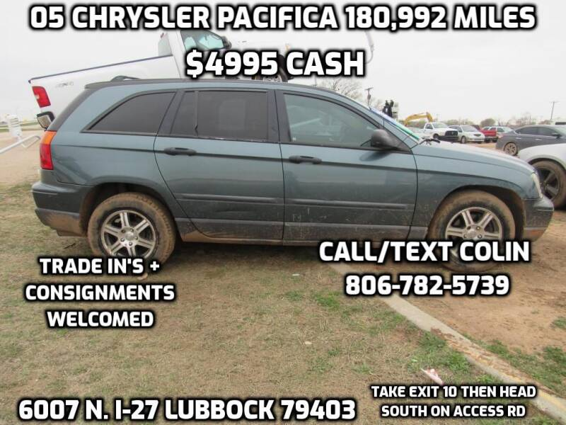 2005 Chrysler Pacifica for sale at West Texas Consignment in Lubbock TX