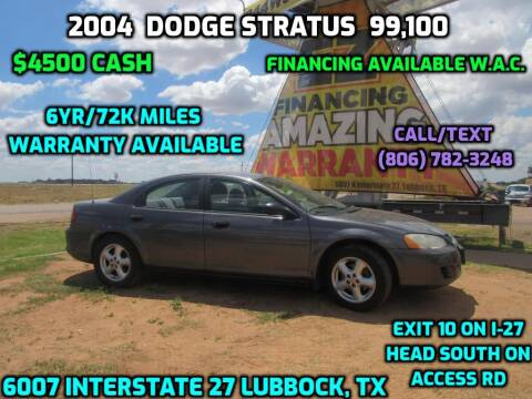 2004 Dodge Stratus for sale at West Texas Consignment in Lubbock TX