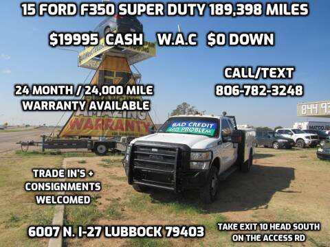 2015 Ford F-350 Super Duty for sale at West Texas Consignment in Lubbock TX