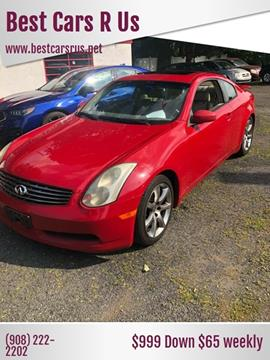 2003 Infiniti G35 for sale at Best Cars R Us in Plainfield NJ