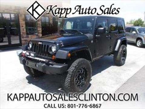 2013 Jeep Wrangler Unlimited for sale in Clinton, UT