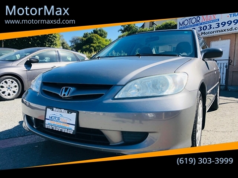 2005 Honda Civic for sale in Lemon Grove, CA