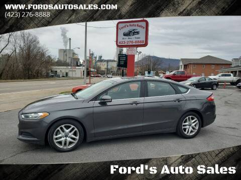 2016 Ford Fusion for sale at Ford's Auto Sales in Kingsport TN