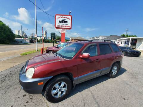 2005 Hyundai Santa Fe for sale at Ford's Auto Sales in Kingsport TN