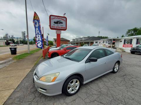 2006 Honda Accord for sale at Ford's Auto Sales in Kingsport TN