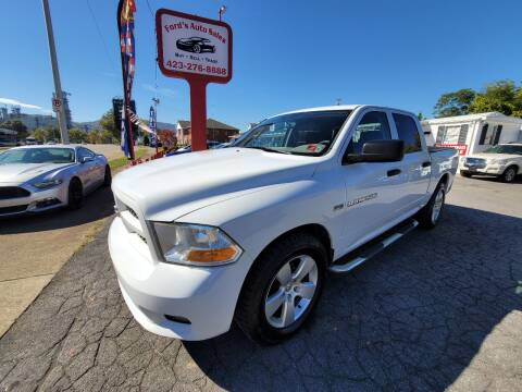 2012 RAM Ram Pickup 1500 for sale at Ford's Auto Sales in Kingsport TN