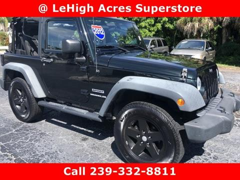 2012 Jeep Wrangler for sale in Lehigh Acres, FL