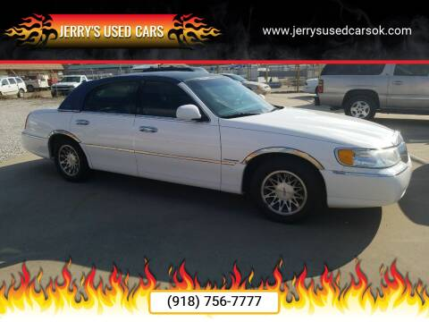 2002 Lincoln Town Car Signature for sale at Jerry's Used Cars in Okmulgee OK