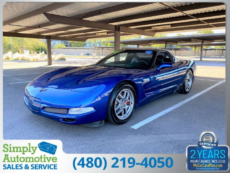 2002 Chevrolet Corvette for sale at Simply Automotive Sales and Service in Tempe AZ