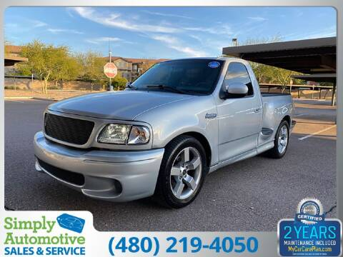 2002 Ford F-150 SVT Lightning for sale at Simply Automotive Sales and Service in Tempe AZ