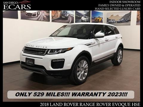 Used 2018 Land Rover Range Rover Evoque For Sale In Cordele Ga