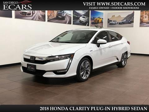 2018 Honda Clarity Plug-In Hybrid for sale in San Diego, CA