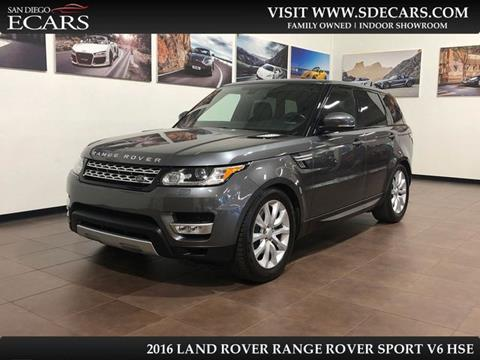 2016 Land Rover Range Rover Sport for sale in San Diego, CA