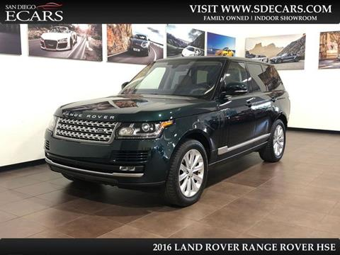 2016 Land Rover Range Rover for sale in San Diego, CA