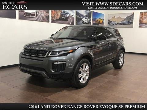 2016 Land Rover Range Rover Evoque for sale in San Diego, CA