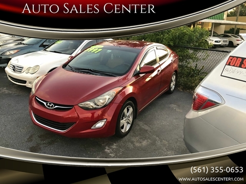 2013 Hyundai Elantra GLS for sale at Auto Sales Center in West Palm Beach FL
