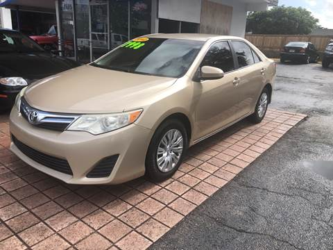 2012 Toyota Camry LE for sale at Auto Sales Center in West Palm Beach FL